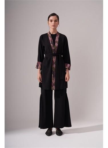 Mizalle Tasarım Siyah Kimono Siyah